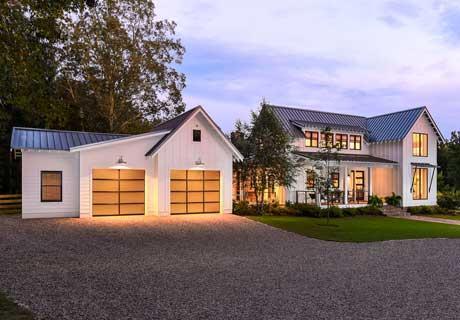 avante modern glass garage door