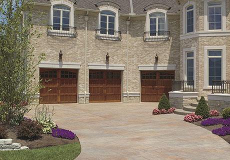 reserve wooden garage door