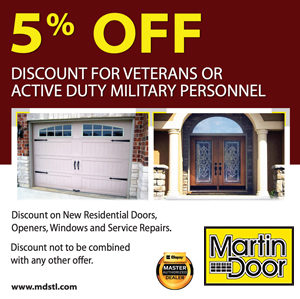 5% off – Veterans Discount